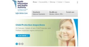 A screen grab of the Health Information and Quality Authority  website.