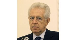 Outgoing Italian prime minister Mario Monti. Investors are awaiting the outcome of an Italian election that could trigger a sell-off in stocks and bonds.