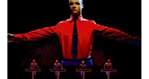 Kraftwerk on stage at the Tate Modern in London last week.