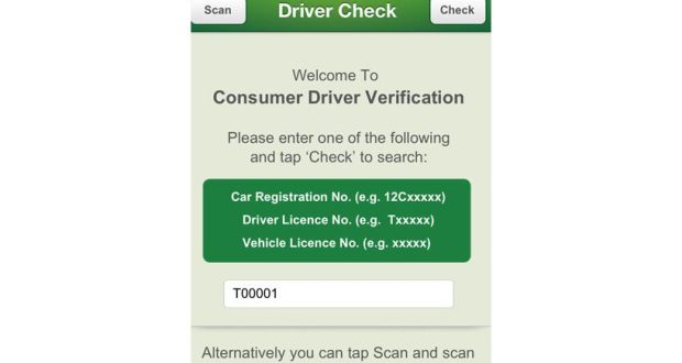 App to check taxi details launched