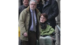 Marie Fleming (right) leaving the High Court last month. Photograph: Niall Carson/PA Wire