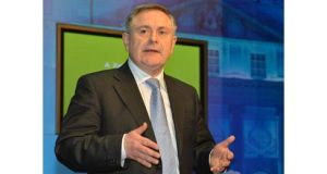 Minister for Public Expenditure Brendan Howlin said local authorities failed to spend ?34 million on water services last years. Photograph: David Sleator.