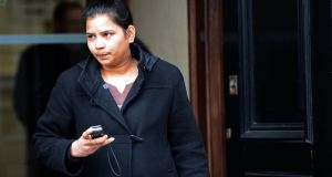 Mrudula Vasealli was a  witness at the inquest into the death of Savita Halappanavar in Galway today. Photograph: Eric Luke / THE IRISH TIMES