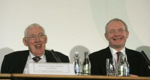 Ian Paisley and Martin McGuinness: the Chuckle Brothers cheered people up –  and in a place that needed cheering, that was important. Photograph: Dara Mac Dónaill