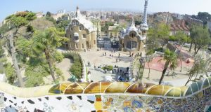 Park Güell, Gaudí's wonderfully eccentric park with its giant salamander made of brightly coloured tiles, was finished in 1900. Photograph: Getty