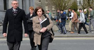 Consultant obstetrician Dr Katherine Astbury at the inquest into the death of Savita Halappanavar in Galway on Tuesday. Photograph: Eric Luke