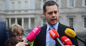 Sinn Féin finance spokesman Pearse Doherty has claimed the Government is exaggerating the number of strategic mortgage defaulters. Photograph: Cyril Byrne / THE IRISH TIMES