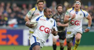 The in-form Sitiveni Sivivatu runs in one of Clermont's tries against Montepellier in last weekend's Heineken Cup quarter-final. Photograph: Getty Images