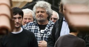 Comic-turned-politician and leader of the 5-Star Movement Beppe Grillo. (AP Photo/Mauro Scrobogna, Lapresse)