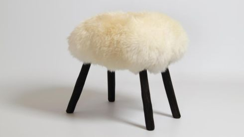 Sheep furnishings: Makers & Brothers brings its Shed pop-up to Brown Thomas, Dublin, from Saturday displaying the work of Irish designers, including shaggy sheepskin stools (below) by Wicklow man James Carroll. They are upholstered in soft sheepskin and cost €295 each.  The pop-up runs until May 9th.