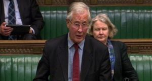 Michael Meacher MP speaks during a tribute to Baroness Margaret Thatcher in the House of Commons yesterday. Photograph: PA Wire