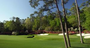 The 13th green at the Augusta National Golf Club.