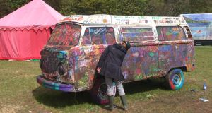A VW gets a makeover at last year's Vantastival