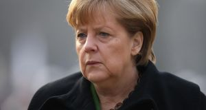 German chancellor Angela Merkel: facing political pressure in Berlin to demand fiscal concessions from Ireland in exchange for granting extra time to repay crisis loans. Photograph: Sean Gallup/Getty Images