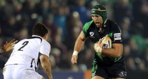 John Muldoon (right): moves to openside for Connacht's match against Edinburgh. Photograph: Inpho