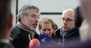 Sinn Féin president Gerry Adams has said he is personally against going into coalition with Fianna Fail but has not ruled it out completely. Photograph: Alan Betson / THE IRISH TIMES