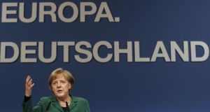 German chancellor  Angela Merkel. Photograph:  Tobias Schwarz/Reuters