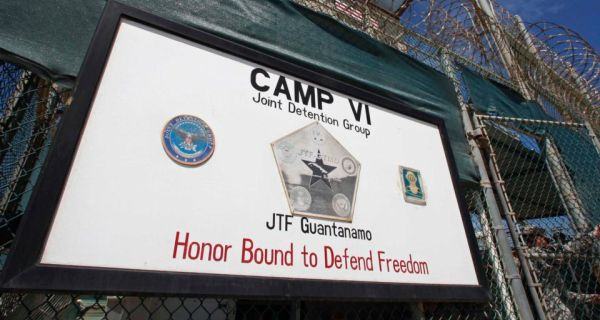 A file image from March of the  entrance to Camp VI, a prison used to house detainees at the US Naval Base at Guantanamo Bay. Photograph: Reuters