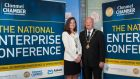 Clonmel Chamber president Valerie O'Reilly and mayor of Clonmel Billy Shoer. Photograph: John Crowley