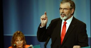 """Little new to offer"": Sinn Féin leader Gerry Adams at the party's ardfheis. Photograph: Brenda Fitzsimons/The Irish Times"