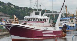 The Tit Bonhomme fishing vessel, above, sank in January 2012 with the loss of five lives.