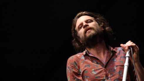 J Tillman of Father John Misty channels Jim Morrison, that fella from The Doors. Photograph: Karl Walter/Getty Images