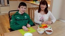 Kathleen Airey and her son Daniel: Kathleen helps manage Daniel's health conditions through a healthy diet. Photographs:  David Sleator