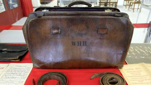 Wallace Hartley's travel case, which held the violin he played as Titanic band leader. Photograph: Matt Cardy/Getty Images
