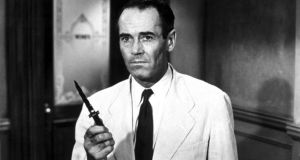 Henry Fonda in 12 Angry Men – the film cast an important light on the jury system - all male – and the dynamics of its debate.