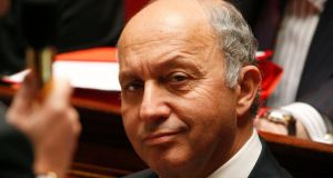 French foreign affairs minister Laurent Fabius whose declaration was the most eagerly awaited. Photograph: Charles Platiau/Reuters