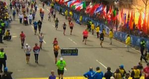 Two explosions struck the marathon as runners crossed the finish line. The official website of the Boston Marathon lists 50 entrants resident in Ireland and 108 entrants with Irish citizenship. Photograph: Reuters