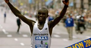 Timothy Cherigat of Kenya wins the 108th edition of the Boston Marathon in 2004: Boston was the original big-city marathon, and some would say still the best. Photograph: Reuters