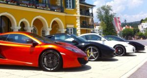 Some of the super cars available on the Supercar Tour 2013