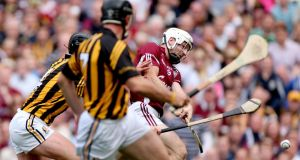 Andy Smith in action against Kilkenny in last year's drawn All-Ireland final. Photograph: Inpho