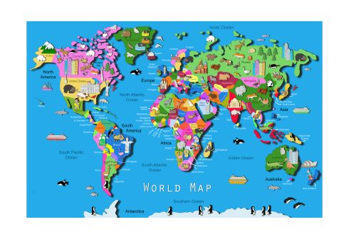 WHERE IN THE WORLD: This colourful map of the world is by Dublin illustrator Carla Daly (carladaly.ie), who last month won a Pal award - a prize that celebrates toys with educational values - for her map of the US, which toy company Ravensburger sells as a giant jigsaw puzzle. This world map measures 63cm by 45cm and is ideal for broadening children's horizons. Bargain Hunter readers can buy it for €20 before close of business on Saturday (it normally costs €30).