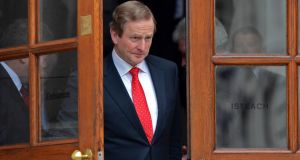 Enda Kenny: said the mandate given to Mr Howlin was to open negotiations and discussions in a full, open, truthful and constructive fashion. Photograph: Eric Luke