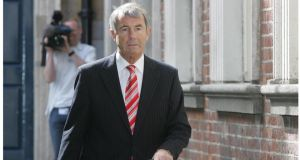 Michael Lowry arriving at the Moriarty Tribunal in 2008. Photograph: Brenda Fitzsimons