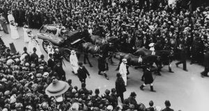 Procession: the funeral of the suffragette Emily Davison, in London in 1913. Photograph: Hulton/Getty