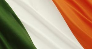 Green, white and orange: the Tricolour as defined by the Constitution. Photograph: Ed Pritchard/PC/Getty