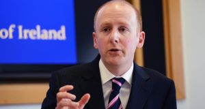 Director of the Insolvency Service of Ireland, Lorcan O'Connor, at the launch of the Insolvency Service of Ireland public information campaign, at Government Buildings yesterday.  Photograph: Eric Luke