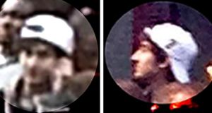 A suspect wanted for questioning in relation to the Boston Marathon bombing April 15 is seen in handout photos during an FBI news conference in Boston tonight. Photograph: FBI/Handout/Reuters