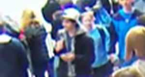 A suspect wanted for questioning in relation to the Boston Marathon bombing April 15 is seen in handout photos during an FBI news conference in Boston tonight. Photograph: FBI/Handout