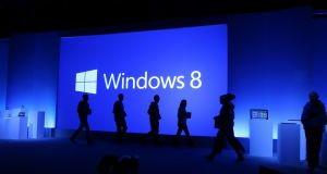 Microsoft  is struggling with declining PC sales and a lukewarm reception for its new Windows 8 operating system. Photograph: Chang W. Lee/The New York Times