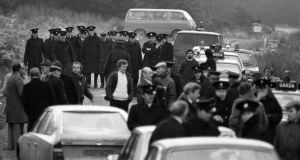 Cold case: gardaí at the discovery of Phyllis Murphy's body, in Co Wicklow, in 1980. Photograph: Tom Lawlor