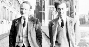 Unexpected consequences: Francis Crick and James Watson in Cambridge in the 1950s. Photograph: Cold Spring Harbor Laboratory Archives