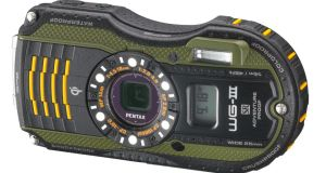 [INDEX_BOLD]Pentax WG-3 Waterproof Camera[/INDEX_BOLD]Actually, it's not just waterproof, within reason the WG-3 is also drop-, crush-, cold- and dust-proof. It also shoots full 1080p30 HD video, has its own six LED light ring built-in for macro-shooting and comes with GPS for accurate geo-tagging, plus an altimeter and compass. So it's all-action for demanding, extreme environments like jungle hikes. Or Communion parties. Pentax WG-3 Waterproof Camera, €380 from pixmania.ie