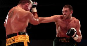 Contender: Tyson Fury fighting Vinnie Maddalone last year. Photograph: Nick Potts/PA Wire