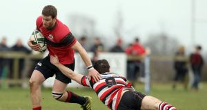Tullamore captain Aaron Deverell: can lead his side from outhalf to victory at Edenderry. Photograph: Inpho