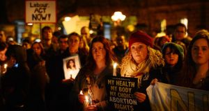Savita Halappanavar's death triggerd pro-choice protests around the country. Photograph: Alan Betson/The Irish Times