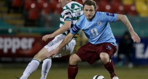 Gary O'Neill of Drogheda United struck twice for his side.  Photograph:Morgan Treacy/Inpho